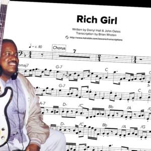 """Bass Transcription: Scotty Edwards's Bass Line on Hall & Oates's """"Rich Girl"""""""