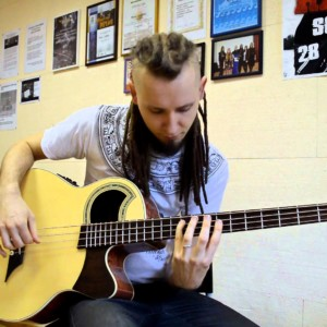 "Dmitry Lisenko: ""Drifting"" Acoustic Bass Guitar Cover"