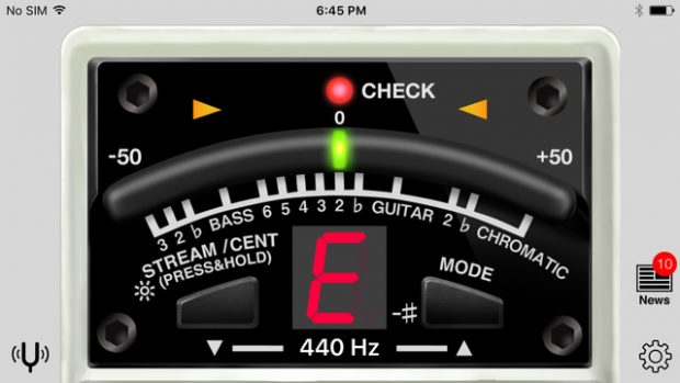 Boss Mobile Tuner App Interface