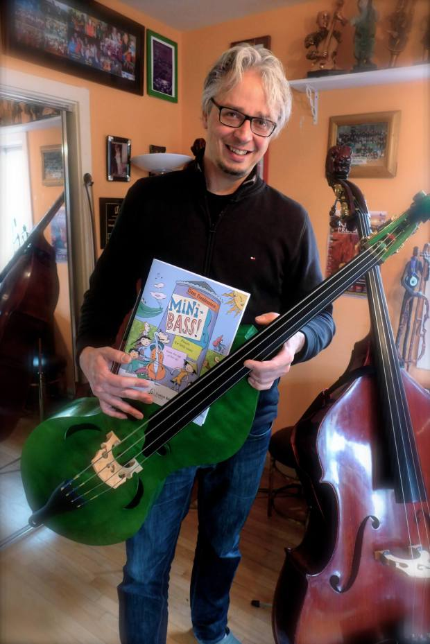 Claus Freudenstein with Minibass and book