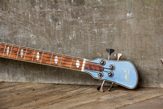 R. Hyde Guitars Long Scale Nuvo Bass Neck and Head Angle