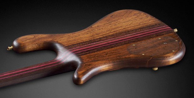 Warwick Custom Shop Masterbuilt - Streamer Stage II Macassar Ebony Bass Back of Body