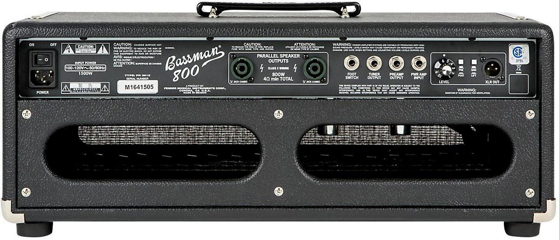 Fender Bassman 800 Head Back