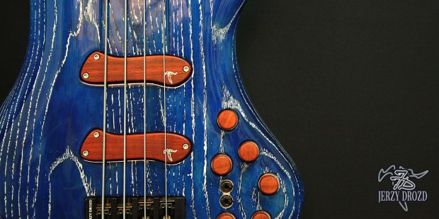 "Jerzy Drozd Soul IV ""Matisse"" Bass Cobalt Blue Pickups and Controls"