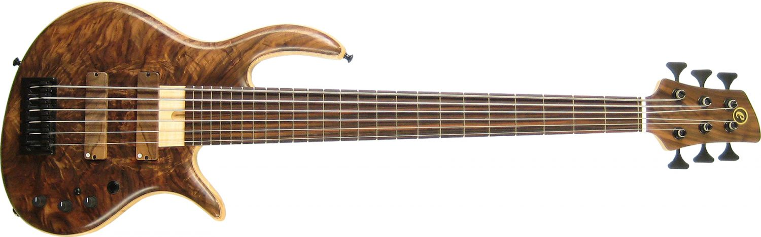 Elrick Handcarved e-volution Gold Series SLC Bolt-on Neck Bass Guitar