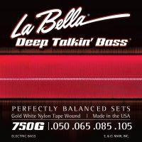 La Bella 750G Gold White Nylon Bass Strings