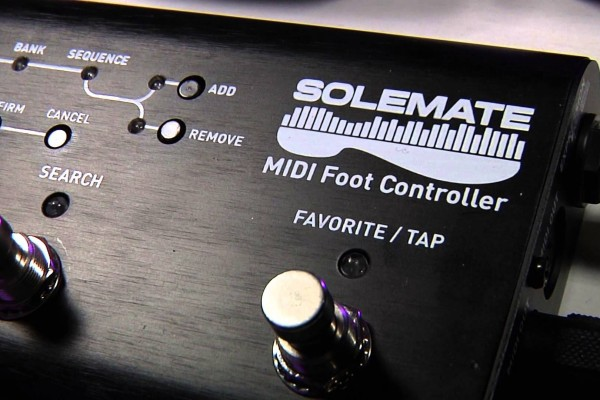 Source Audio Now Shipping the Soleman MIDI Foot Controller