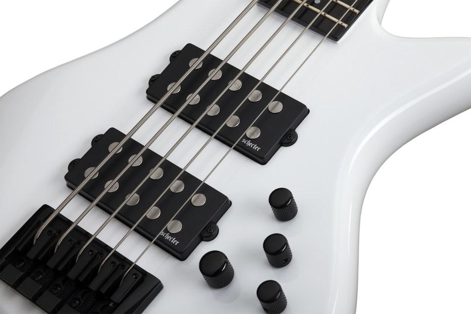 Schecter Stilleto Stage-5 Bass White Pickups