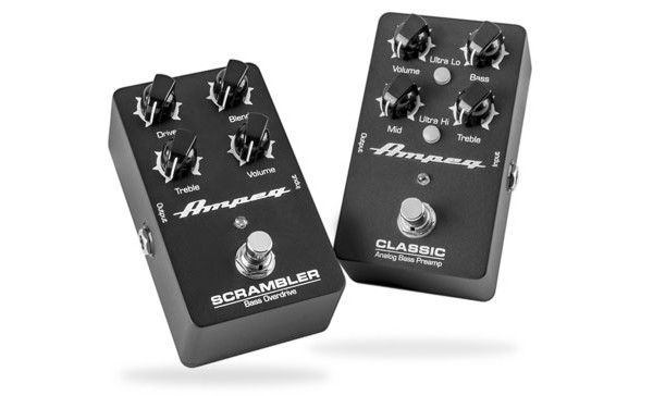 Ampeg Now Shipping Classic Preamp and Scrambler Overdrive Pedals