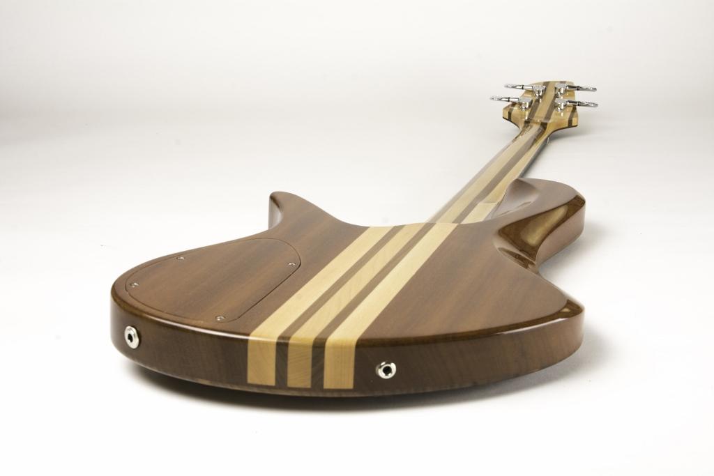 Frederiek de Vette's Singlecut Fretless Bass Back Angle 2