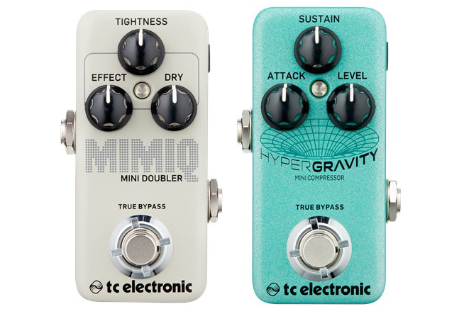 TC Electronic HyperGravity Mini Compressor and Mimiq Mini Doubler Pedals