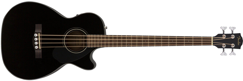 Fender CB-60SCE Acoustic Bass Guitar Black Front