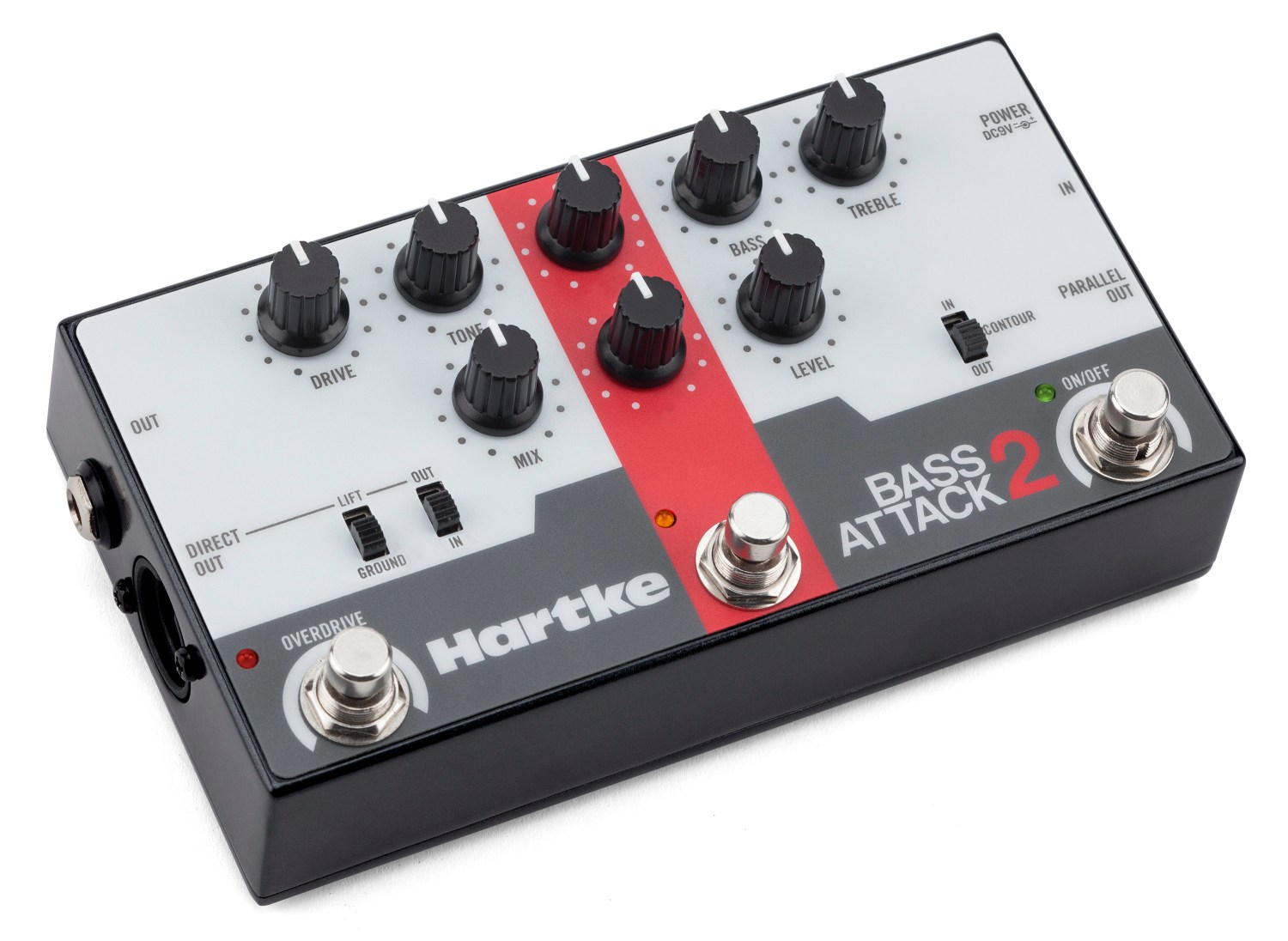 Hartke Bass Attack 2 Pedal - Angled