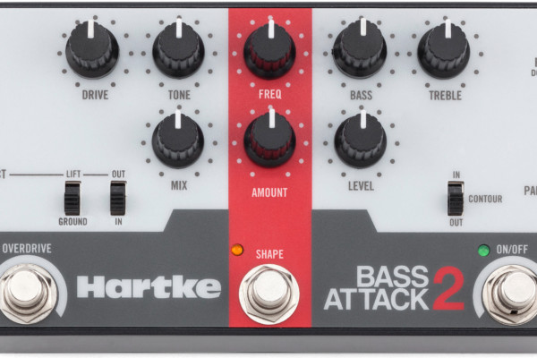 Hartke Gets Back On The Attack With the New Bass Attack 2 Preamp/DI with OD