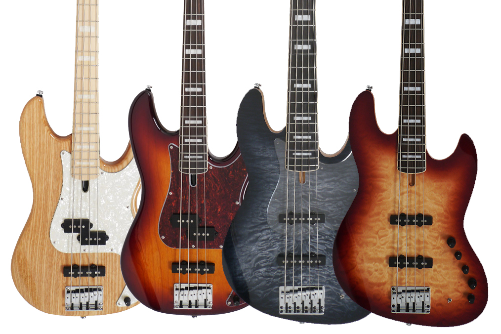 Sire Guitars Marcus Miller P7 and V9 Basses