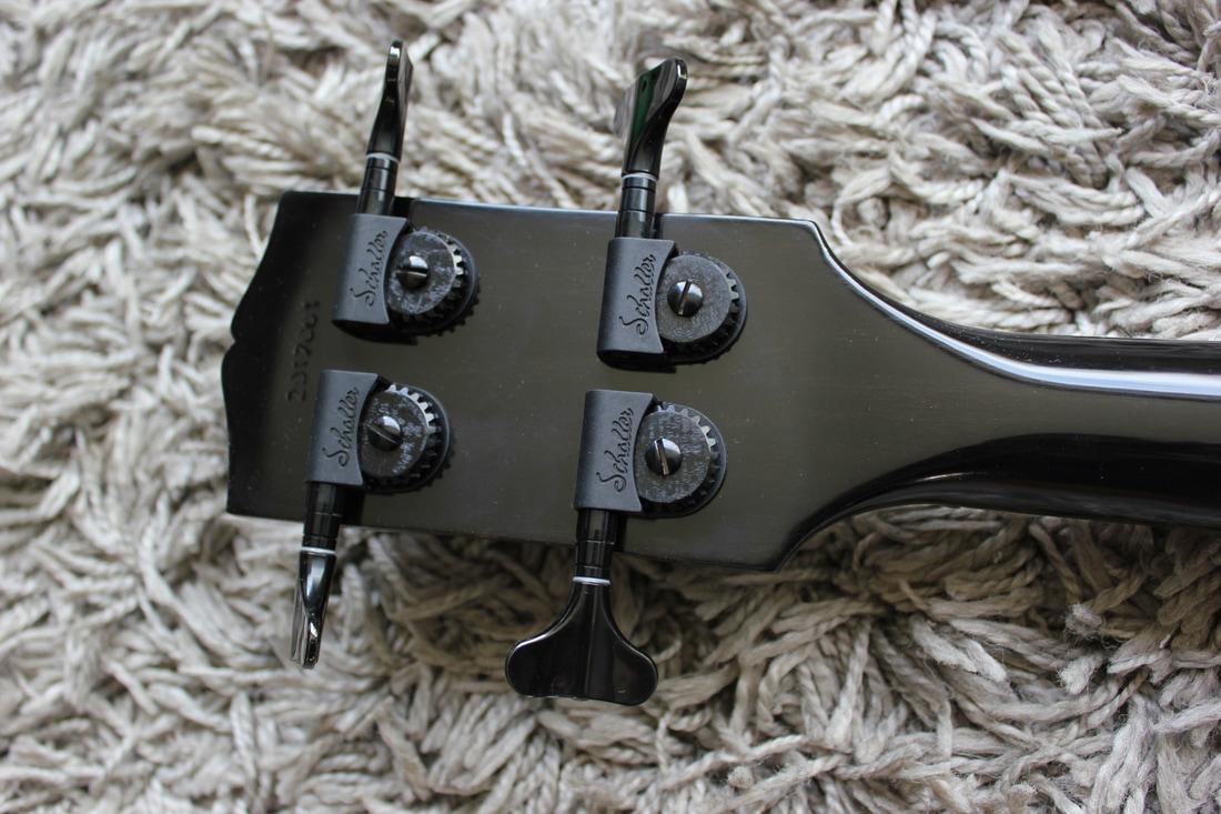 Brooks EB-RBL Bass Back of Headstock