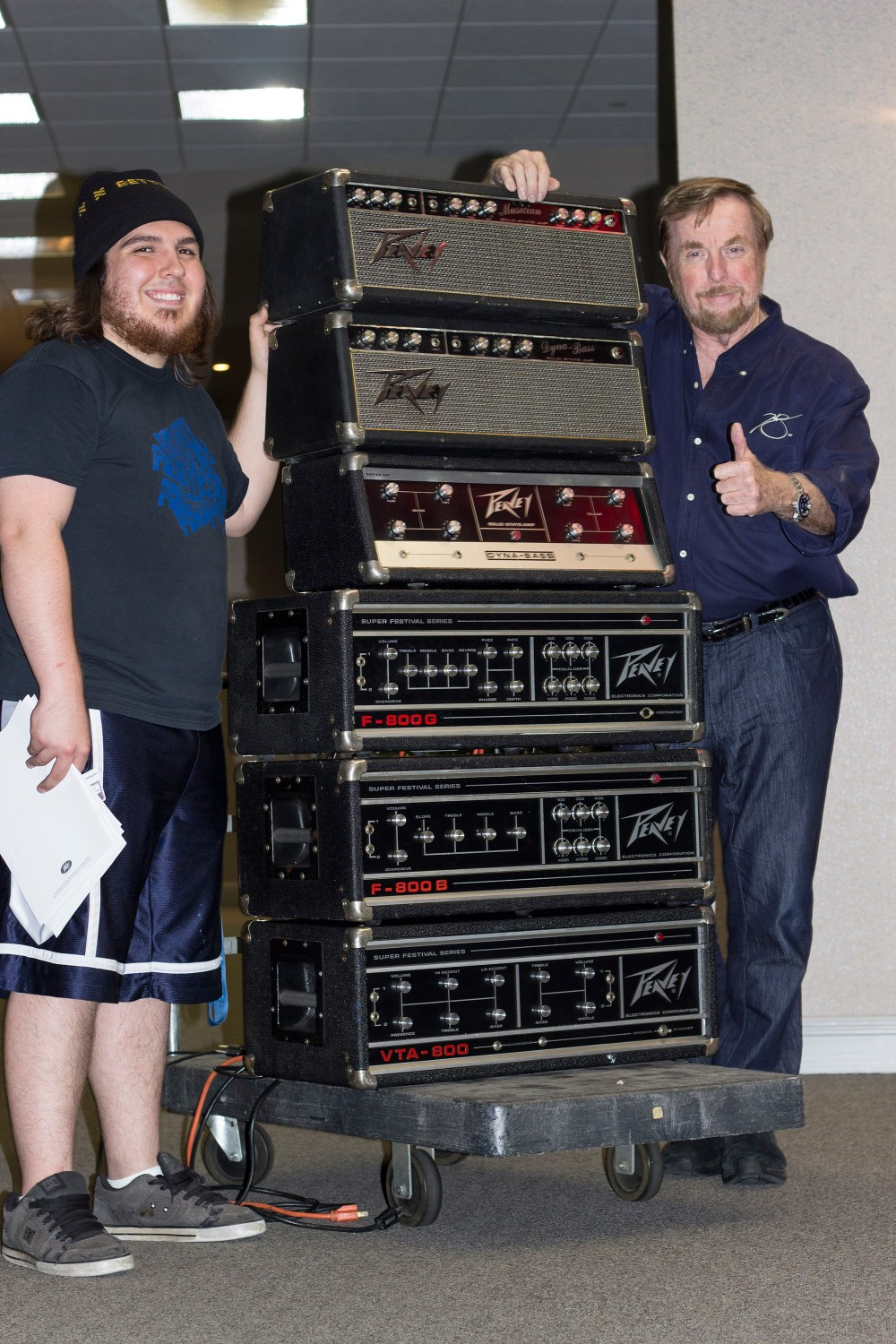 Derrick Cook and Hartley Peavey