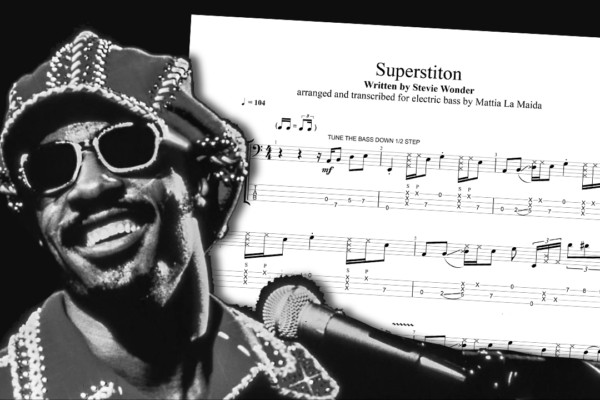 "Bass Transcription: Mattia La Maida's Solo Bass Arrangement of Stevie Wonder's ""Superstition"""