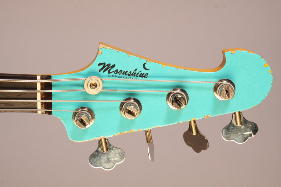 Moonshine Custom Guitars Rat Rod J Bass Headstock