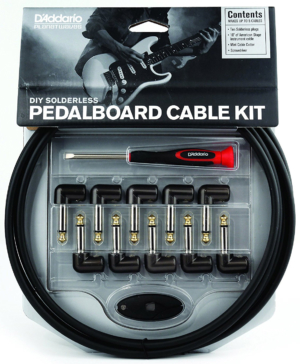 D'Addario DIY Solderless Pedalboard Audio Cable Kit with Mini Plug