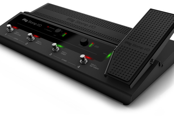 IK Multimedia Now Shipping the iRig Stomp I/O USB Pedalboard Controller
