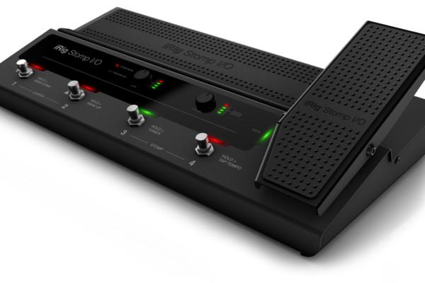 IK Multimedia Now Shipping the iRig Stomp I/O USB Pedalboard Controller