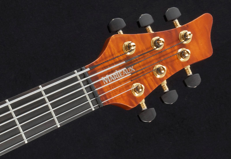 Marleaux Contra Bass 6-string Headstock