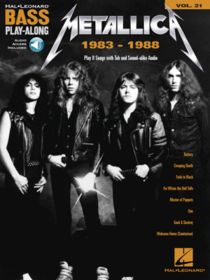Metallica: 1983-1988: Bass Play-Along Volume 21