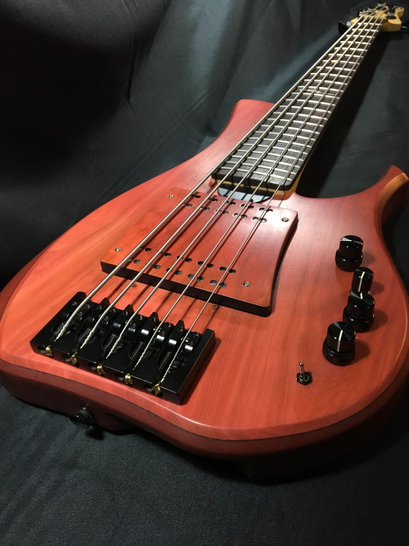 Swan Custom Basses LG II Bass Body Angle