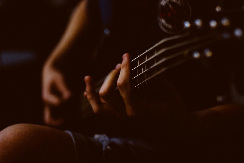 Bassist Practicing