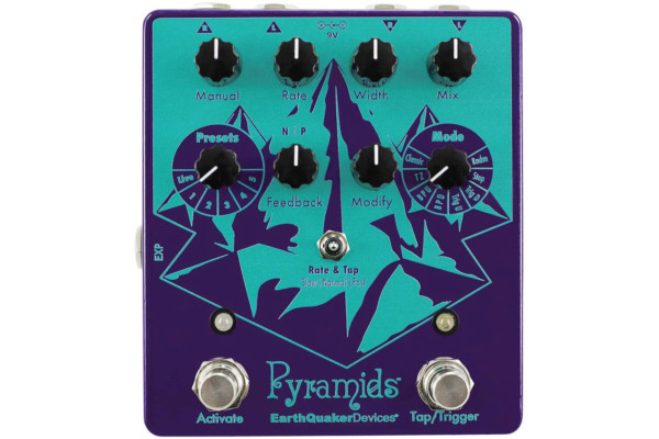 Earthquaker Devices Introduces the Pyramids Stereo Flanger Pedal