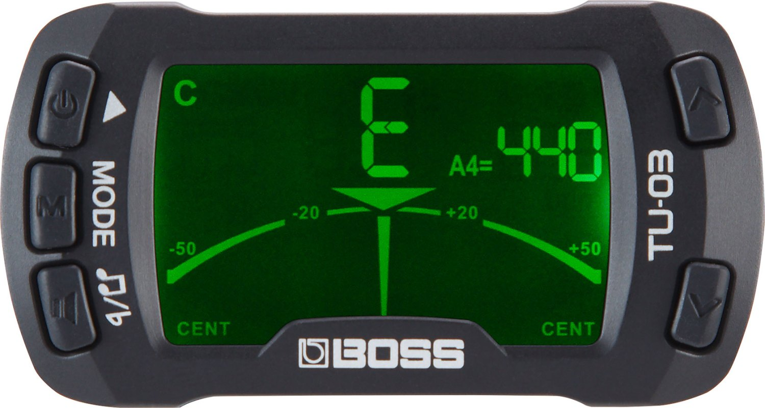 Boss TU-03 Clip-On Tuner and Metronome - Tuner