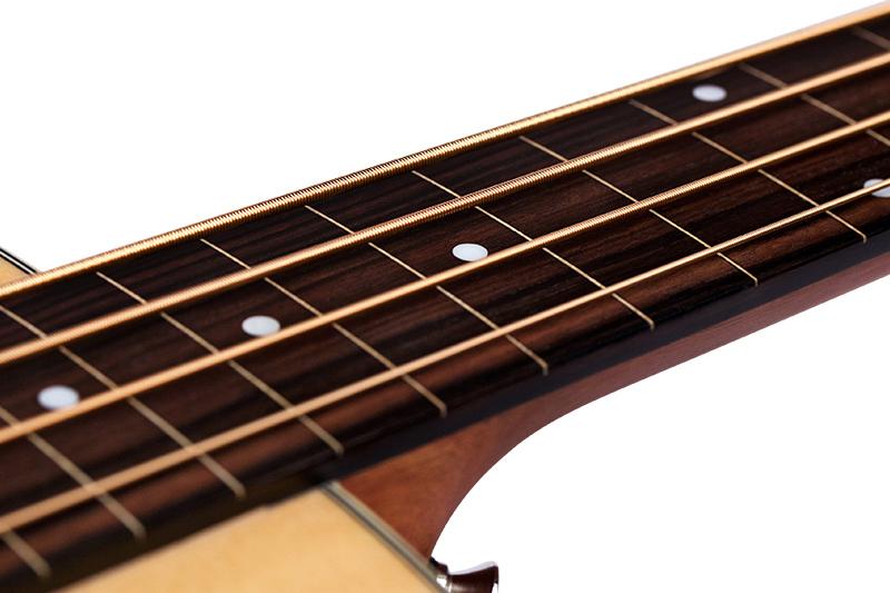 Guild B-240EF Bass Fingerboard Closeup