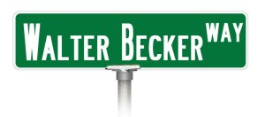 Walter Becker Way Sign