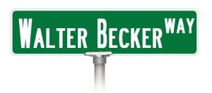 Walter Becker Way Sign