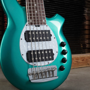 Ernie Ball Music Man Unveils Ball Family Reserve Bongo 6HH Bass in Grabber Green