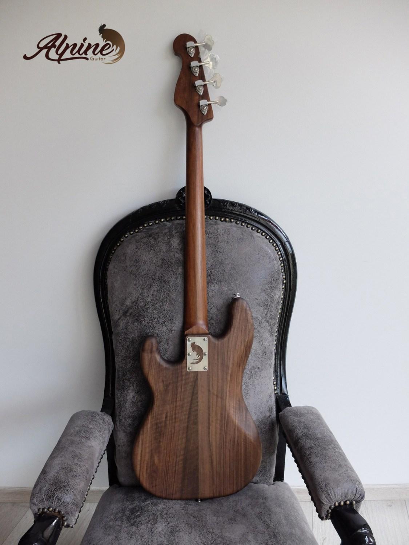 Alpine Guitar Black Bison Bass Back Full