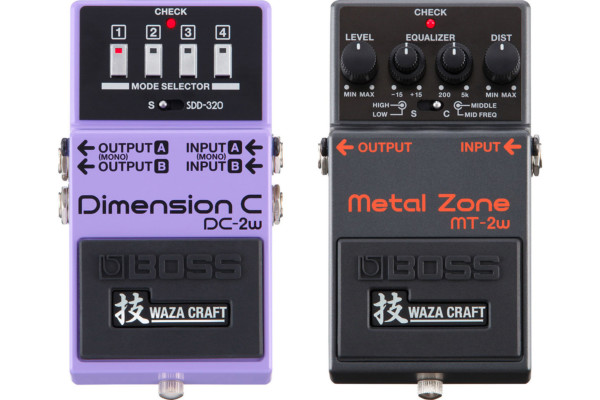 Boss Introduces DC-2W Dimension C and MT-2W Metal Zone Pedals