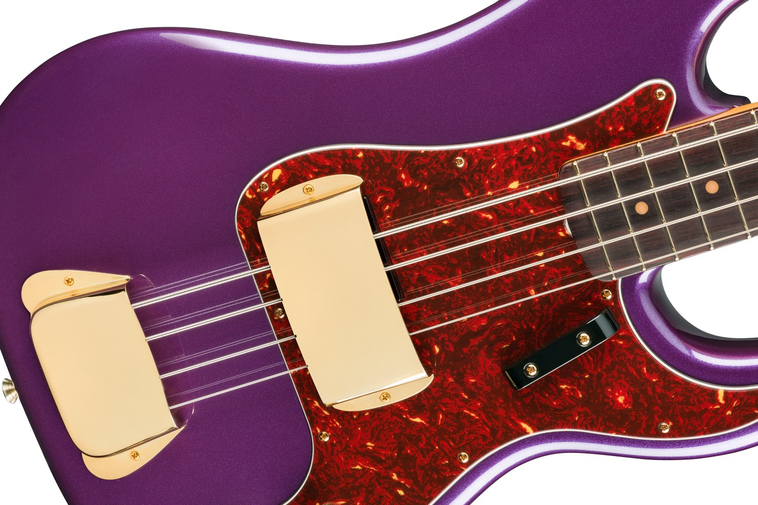Fender Limited Edition Midnight Hour Precision Bass Closeup