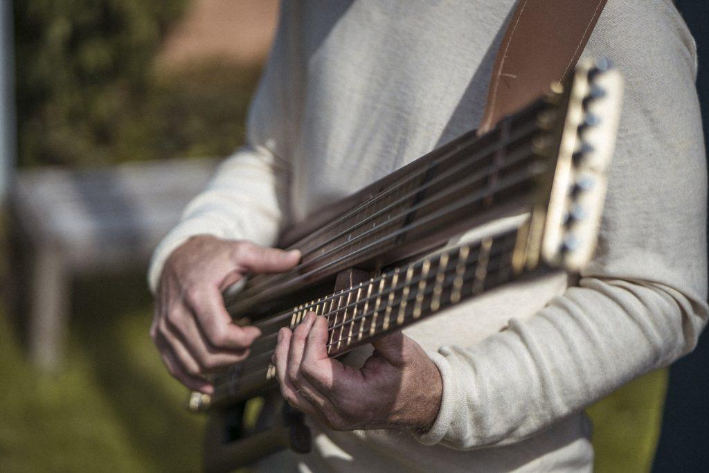 Nordic Guitars Rotator Bass Being Played