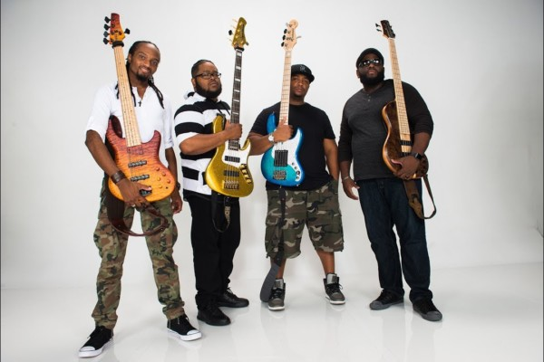 "Justin Raines, Daric Bennett, Kenneth ""Kaybass"" Diggs, and Alan ""Snoop"" Evans: Gospel Shout Bass Shed"