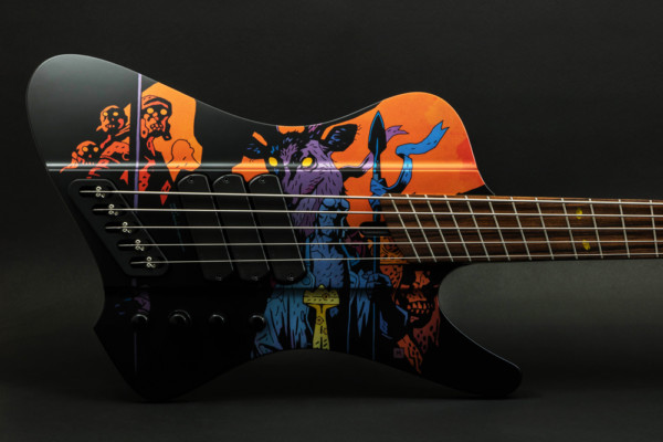 "Dingwall Guitars Announces the D-Roc Rob van der Loo ""Hellboy"" Limited Edition 5-String Bass"