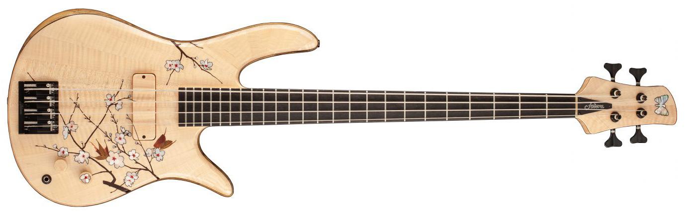 Fodera Masterbuilt Cherry Blossom Bass