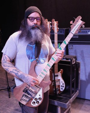 Al Cisneros with Signature Rickenbacker Bass