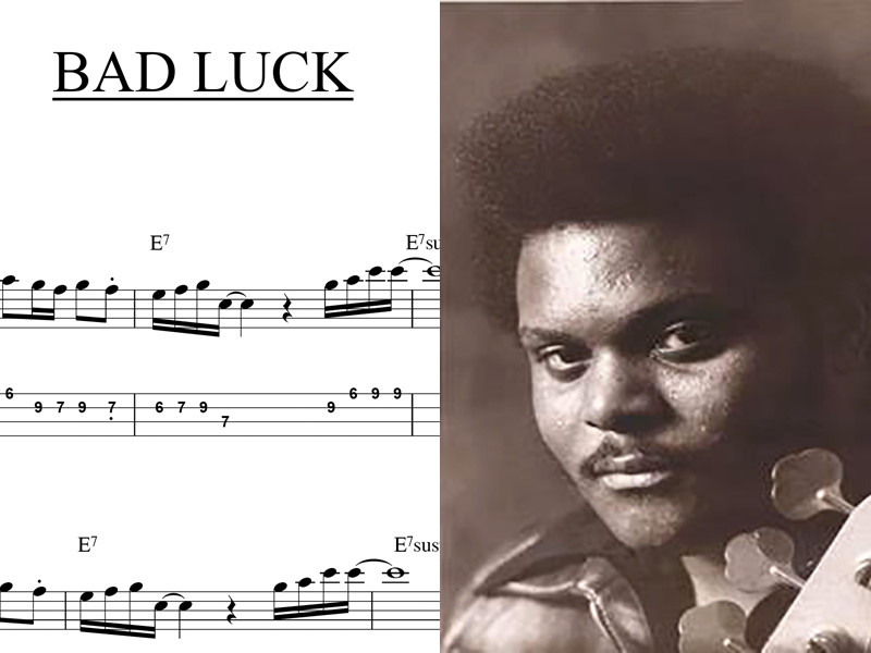 """Bass Transcription: Ronnie Baker's Bass Line on """"Bad Luck"""" by Harold Melvin and the Bluenotes"""