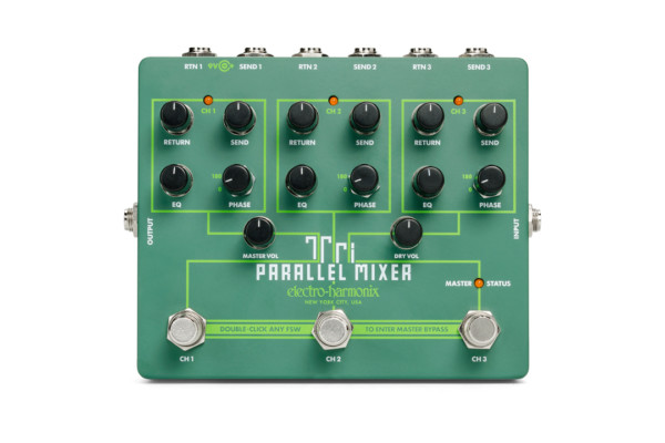 Electro-Harmonix Announces the Tri Parallel Mixer