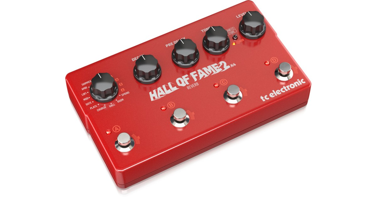 tc electronic introduces the hall of fame 2 4 reverb pedal no treble. Black Bedroom Furniture Sets. Home Design Ideas