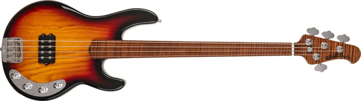 Ernie Ball Music Man BFR Fretless StingRay Vintage Sierra Burst Bass