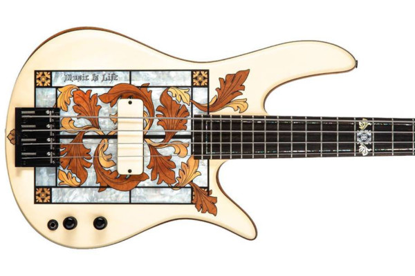 Fodera Unveils Masterbuilt Gothic Stained Glass Bass