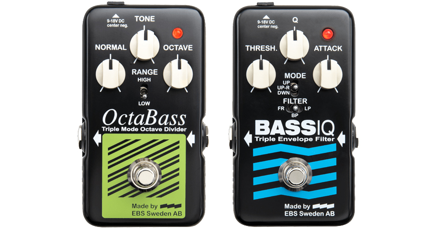 EBS Blue Label Series OctaBass and Bass IQ Pedals